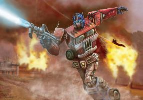 OPTIMUS PRIME by HalHefnerART