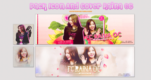 Pack Icon And Cover Raina OC by Shawolki