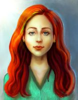 Red-haired lassy by E-leah