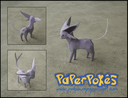Mini Espeon Papercraft by Jyxxie