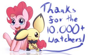 Thanks For The 10K Watchers by Bukoya-Star