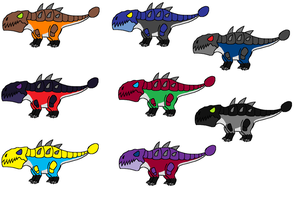 Glurtorrian Stone Lizards by FeralStormRaptor