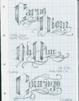 Tattoo Lettering 14 by 12KathyLees12