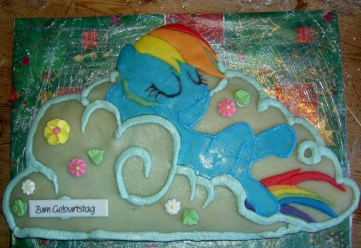 Rainbow Dash Cake by SchwesterEden