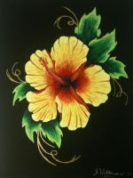 fire hibiscus by JWalldesigns