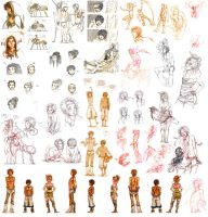 .:: Sketchdump Little People 6 ::. by Maiwenn