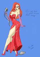 Jessica Rabbit pinup color ver by Tanoko