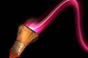 Painting Magenta Light by StewartSteve