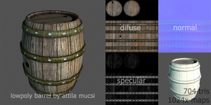 Lowpoly barrel by mucsiattila