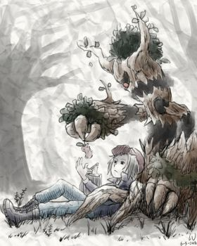 Under the Tree by The-Blue-Wind