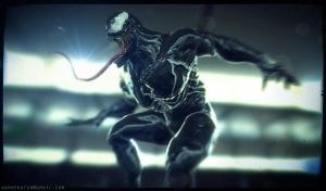 Venom low poly by Bawarner