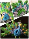 peacock 3d origami by alicialestari