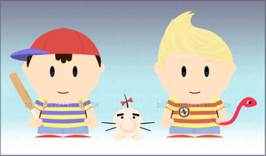 Ness + Lucas Goin to SouthPark by Dosu