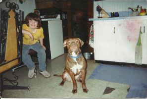 Hershey and I 10 years ago by LadyALT69