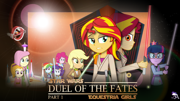 Duel of the Fates : Part 1 (MLP:EqG x Star Wars) by Amante56