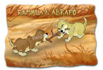 Ramala and Abrafo Playing Tug-of-War by funlakota