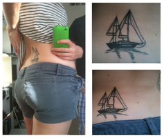 boat tattoo by Was-Is-Willbe