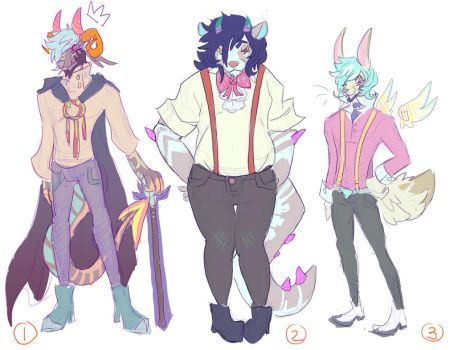 10$ ADOPTS  fancy gents  (CLOSED) by HoofFingers