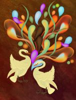 Swans for Peace by one8edegree