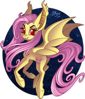 Flutterbat T-shirt design by MerionMinor