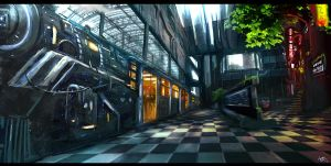 Aenigma - Jonada Train Station - Concept Art by W-E-Z