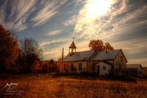 HDR Autumn Church by Nebey