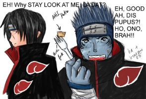 Crack Itachi and Kisame color by yun-yun