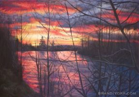 Sunrise on the Santiam by brandiyorkart