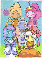 Adventure Time Princesses by Kikulina