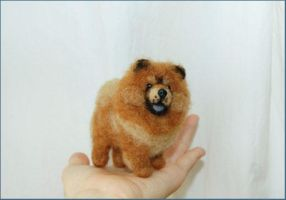 Needle Felted Chow Chow Dog by amber-rose-creations