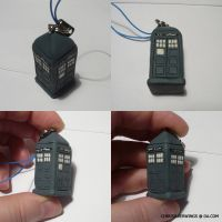 New Tardis Cellcharm by ChibiSilverWings
