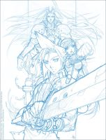 Final Fantasy VII - Sketch by MichelleHoefener