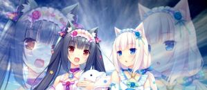 Chocola and Vanilla Blue Sky ver. (NekoPara) by Sayori-Tazura