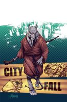 TMNT#24: City Fall_cover by Santolouco