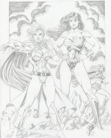 DC superheroines by Robb Phipps by zefly88