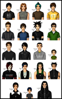RGS: Male Characters by Selenechan