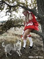 Little Red Riding Hood with big bad wolf by PhotoNovotna