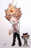 Tsuna and Reborn by Rorita-Sakura
