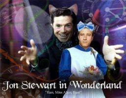 Jon Stewart in Wonderland by idreamofjv