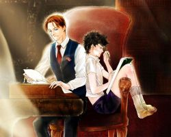 Young sherlock and mycroft by WuLiao-Yuzi
