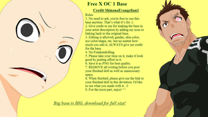 Free X OC 1 Base by ShinanaEvangelian1