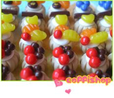 Miniature pastries by coffishop