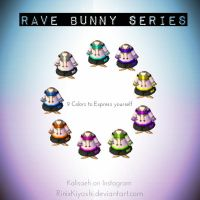 Rave Bunny Series: Poster by Squidacious