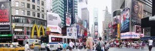 times square panorama by zackone