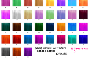 [MMD] Simple Texture Hair+Download by Yukio-Soraru-Okumura