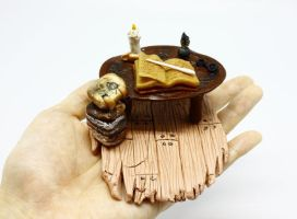 Miniature Harry Potter scene by sixAstray