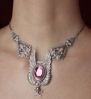 Angel's wings necklace by Pinkabsinthe