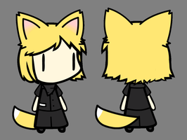 First Attempt at making a Walfas Character's Back by Unknownfalling