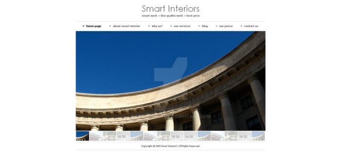 Smart Interiors Drupal 6 Theme by settysantu