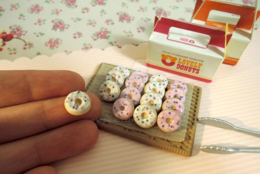 Donut charms for earrings by Meow-Box